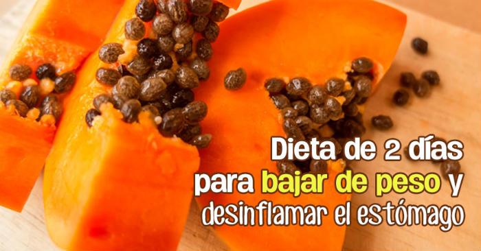 Bajar de peso gracias a la papaya
