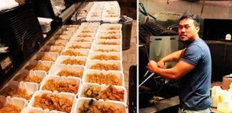 1000 platos de comida en el huracán
