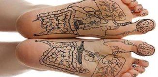 Masajes en los pies antes de dormir
