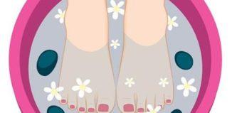 Depurar el cuerpo con baños de pies