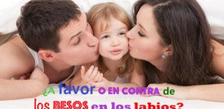 La razón por la que no debes darle besos en la boca a tus hijos