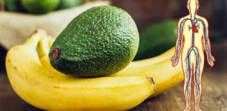 Aguacate y plátano para el corazón
