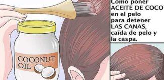 Aceite de coco para eliminar las canas