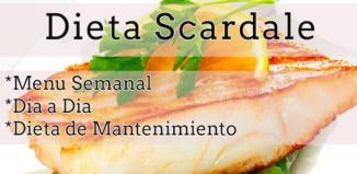 La dieta Scardale menu completo