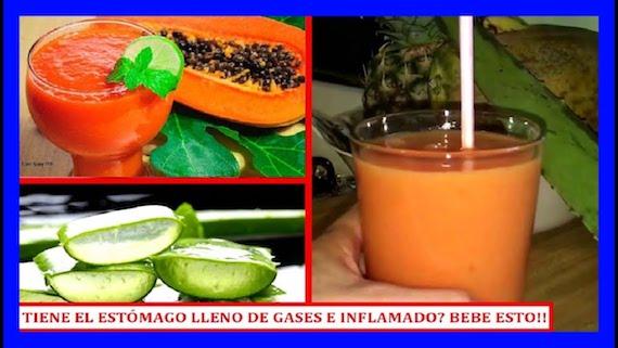 Bebida para aliviar el estomago inflamado