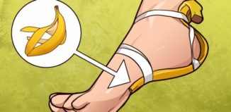Una banana en los pies para resultados increíbles