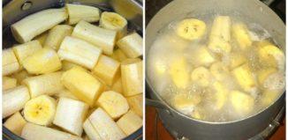 Liquido milagroso de plátano con canela