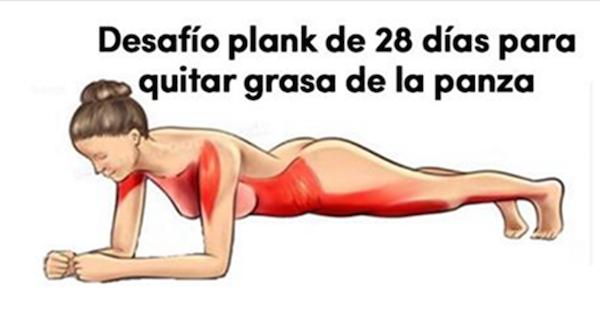 Desafío plank para eliminar la panza