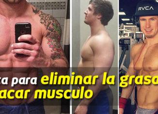 Dieta para hacer crecer los musculos y eliminar grasa